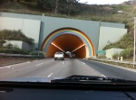 Heading up to Bodega Bay - the tunnel