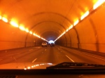 going through the tunnel