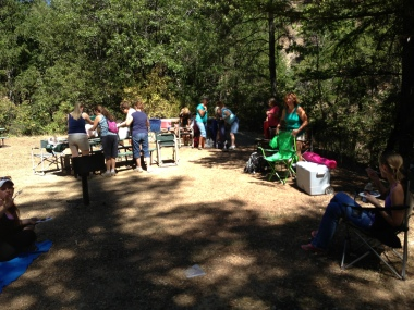 Picnic at Lower Crystal Creek Falls